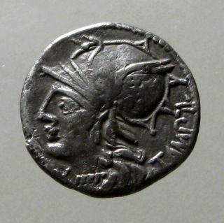 Baebia 12 Silver Denarius_roman Republic_apollo Making His First Appearance photo