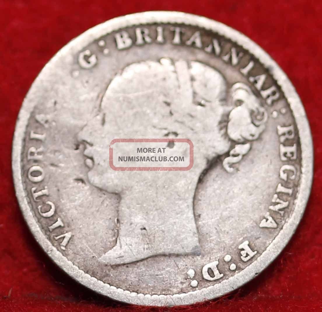 1883 Great Britain 3 Pence Silver Foreign Coin S/h UK (Great Britain) photo