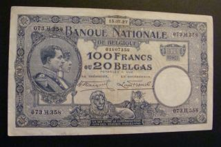 Belgium 100 Francs 1927 Crisp photo