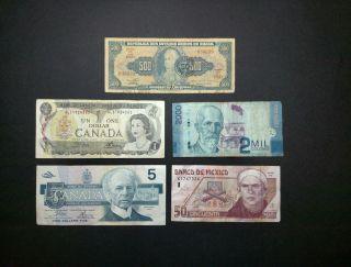 Paper Money From Around The World photo