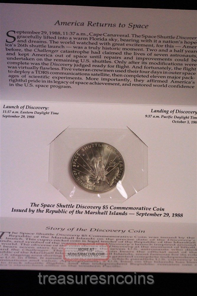 space shuttle discovery 5 dollar coin worth - photo #20