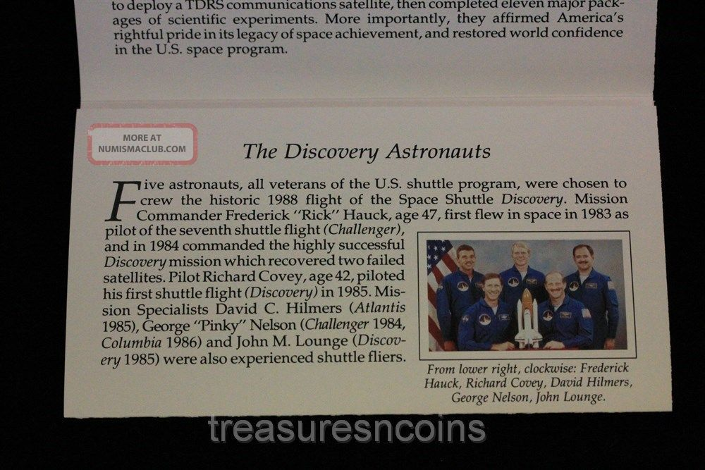 space shuttle discovery 5 dollar coin worth - photo #46