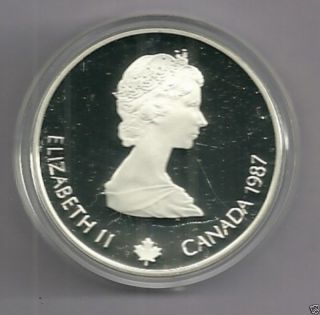 1987 Calgary 88 Olympics $20 Silver Proof Coin Bobsleigh 1 Troy Oz Silver photo