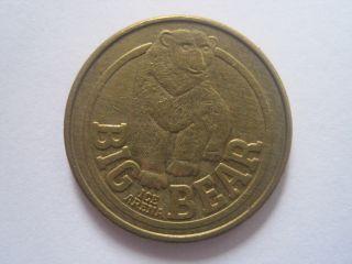 Big Bear Ice Arena Type 1 (brass) Denver Colorado Token Coin 1112 - 3 photo