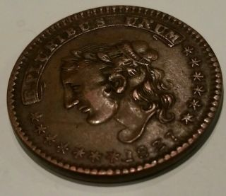 1837 H.  Crossman Hard Times Token Umbrella Red Luster No.  92 1/2 Ny Au - Bu Ht - 243 photo