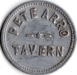 St Joseph Missouri Pete Arro Tavern Merchant Good For Trade Token photo
