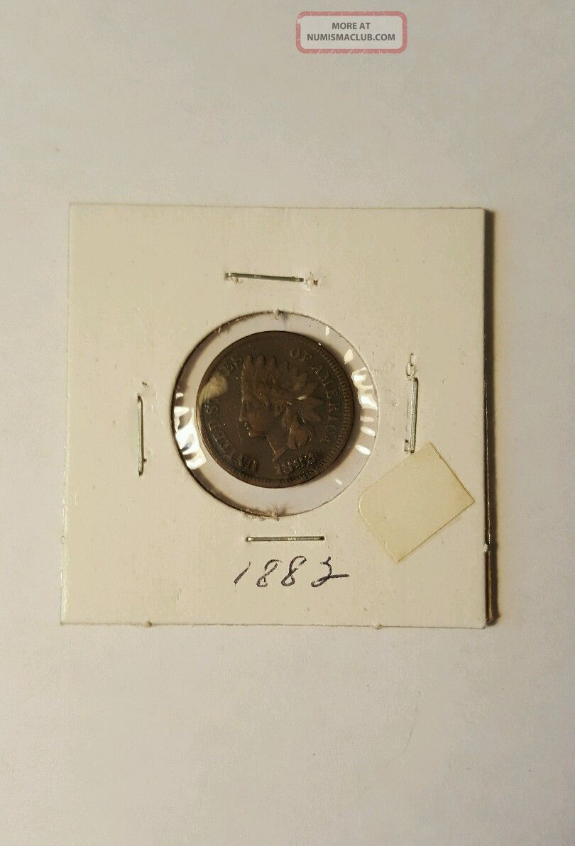 1882 Indian Head Penny One Cent Coin Small Cents photo