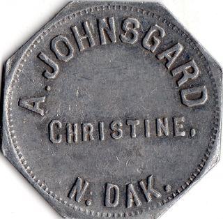 Christine North Dakota A.  Johnsgaurd Merchant Good For Trade Token photo