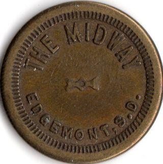 Edgemont South Dakota The Midway Merchant Good For Trade Token photo