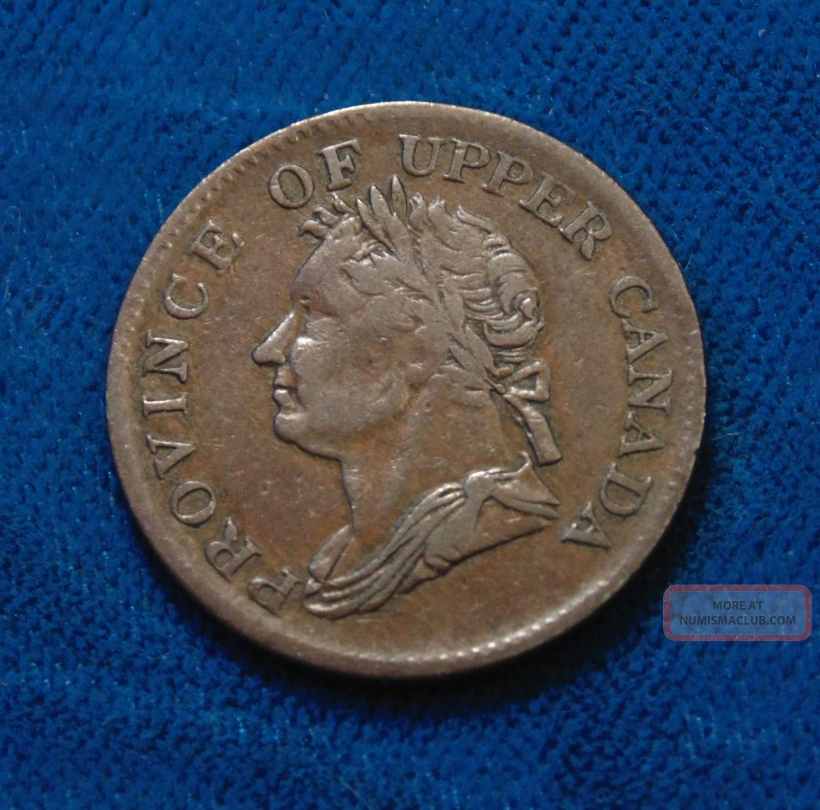 1832 King William Iv Canadian Canada 1 2 One Half Penny