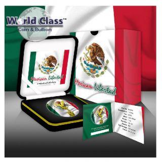 2015 1 Oz Silver Mexican Flag Colored Libertad Coin photo