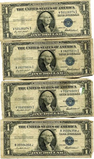Paper Money: US - Small Size Notes - Silver Certificates - Price and ...