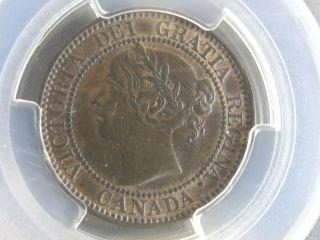 1859 Canada Large Cent Dpn9 T1 Pcgs Au58 Rare Coin photo