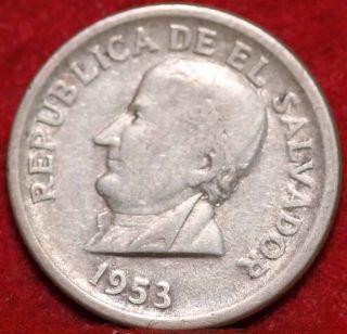 1953 El Salvador Silver 25 Centavos Silver Foreign Coin S/h photo