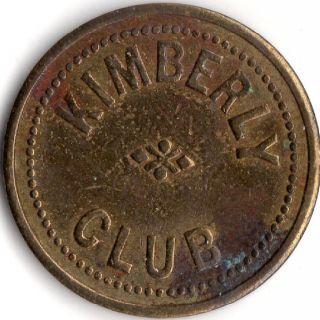 Kimberly Nevada Kimberly Club Merchant Good For Trade Token photo