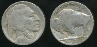 United States,  1927 - D 5 Cents,  Buffalo Nickel - Very Good photo