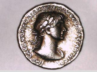 Roman Imperial Denarius Emperor Trajan Providentia Rome Victory Coin Gift photo