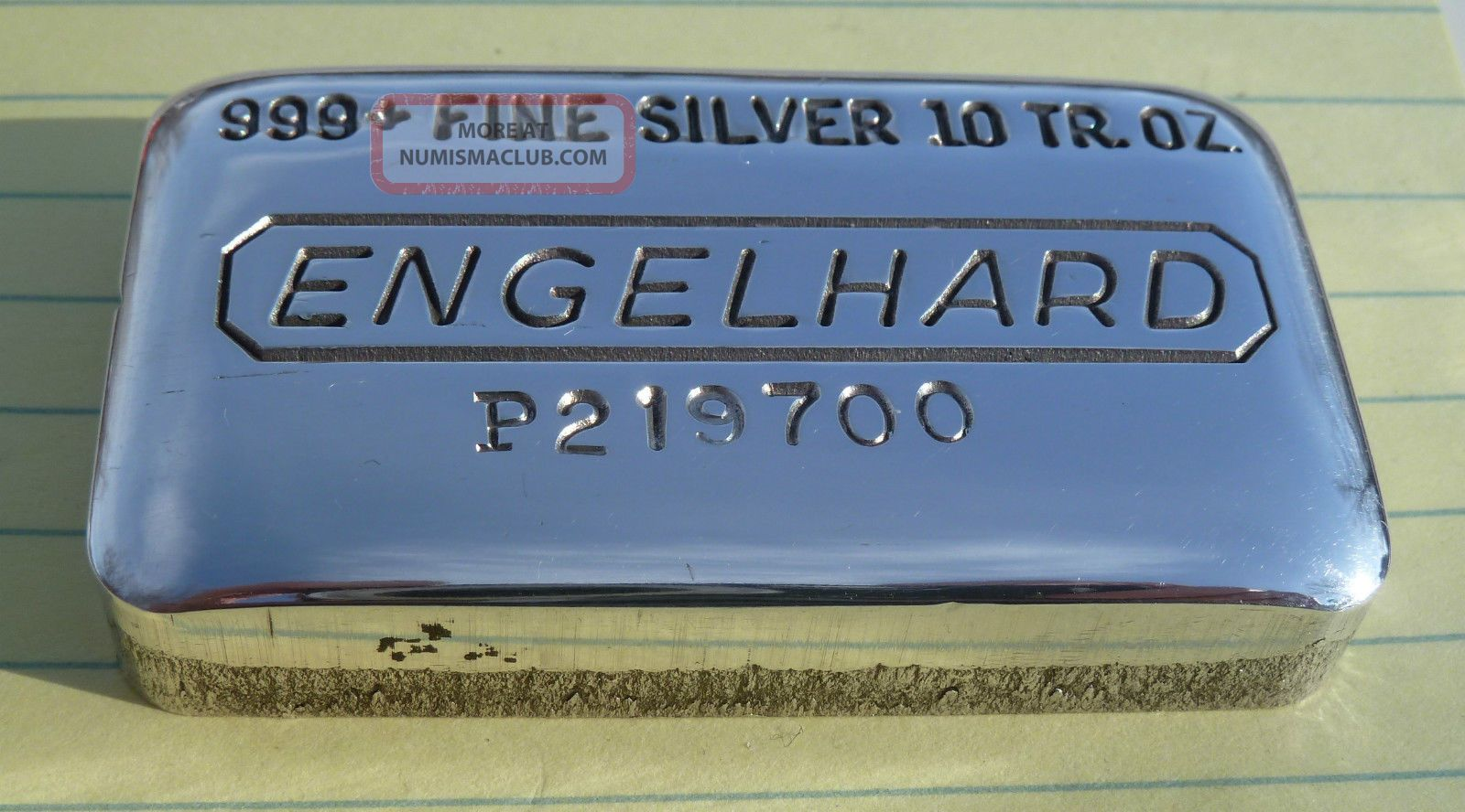 10 Oz Quot Engelhard Loaf Bar Quot 999 Silver