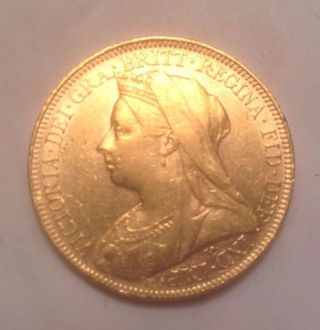 1894 Great Britain Gold Full Sovereign Coin photo