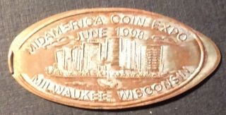 Elongated Cent 1998 Mid America Coin Expo Milwaukee Wisconsin photo