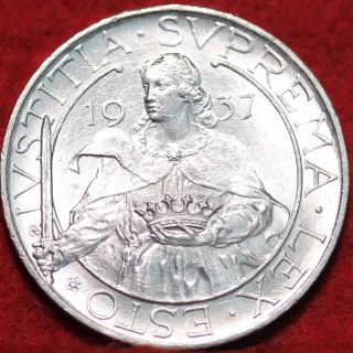 Uncirculated 1937r San Marino Silver 10 Lire Foreign Coin S/h photo