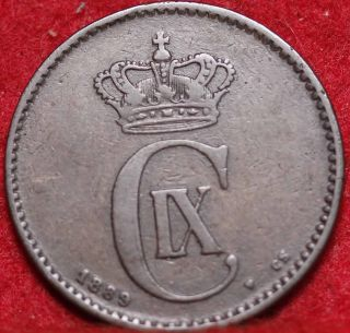 1839 Denmark 2 Ore Foreign Coin S/h photo