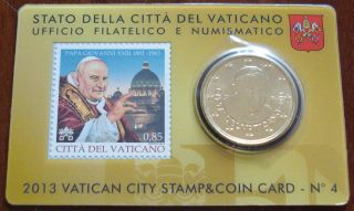 Official 2013 Vatican Coin And Stamp Card - Pope Saint John Xxiii photo