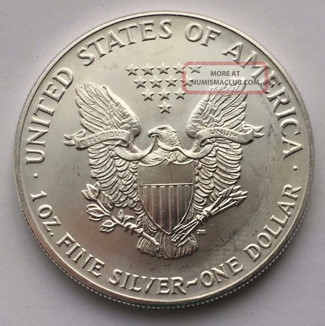 1991 American Silver Eagle Dollar Coin