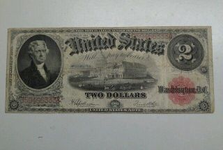1917 $2.  00 Legal Tender (fr60) ●higher Grade●.  《sn:b59466333a》 photo