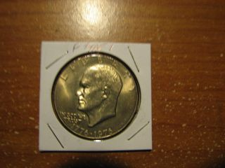 1976 P Eisenhower Bicentennial Dollar Type 1 Bu Ike Us Coin photo