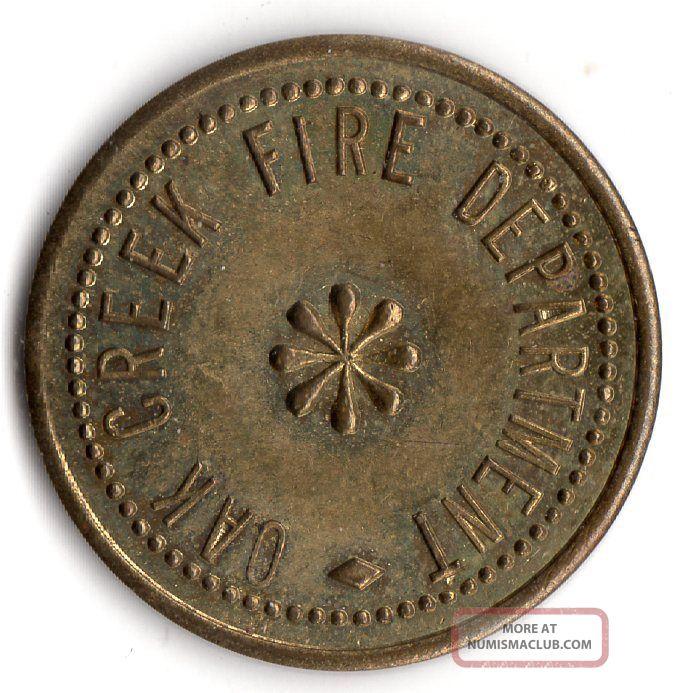 Oak Creek Colorado Oak Creek Fire Department Merchant Good For Trade Token Exonumia photo