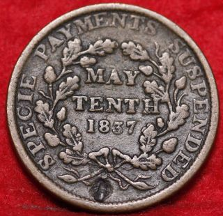 1837 Hard Times Token Copper photo