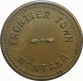 Frontier Town Montana Mt 5¢ Trade Token photo