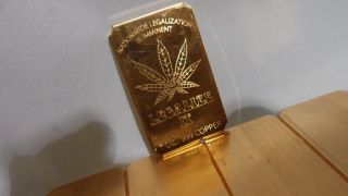 100 Legalize It 1 Oz.  Cracker 99.  9 Copper Bullion Art Bar Ingot photo