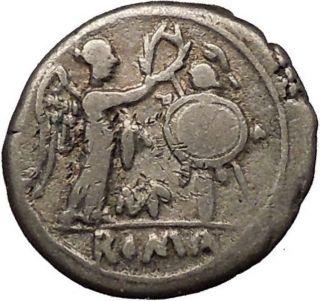 Roman Republic War Vs Hannibal 2nd Punic War 211bc Ancient Silver Coin I53575 photo