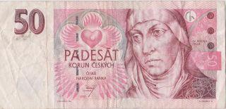 Czech Republic 50 Korun 1997 Circulated Banknote photo