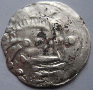 France Feudal Comte De Blois Thibaut Iii 1050 - 1090 Rare Denier Silver Argent photo