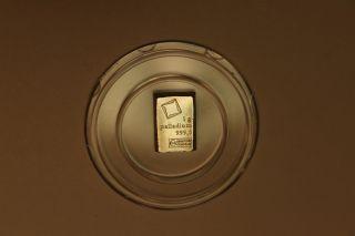 1g,  1 Gram 999.  5 Palladium Bar,  Precious Metal,  Investment, photo