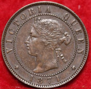 1871 Prince Edward Island 1 Cent Foreign Coin S/h photo
