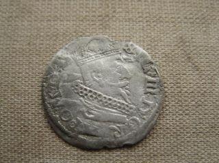 1625 Lithuania Grosz Coin photo
