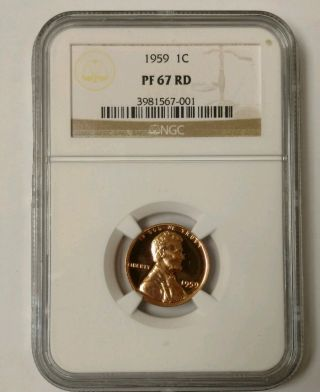 1959 Lincoln Wheat Cent Proof Ngc Pf67rd S photo