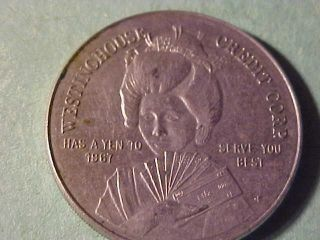 Westinghouse Credit Corp Advertising Token Geisha Girl1967 31 Mm Wm L 1 photo