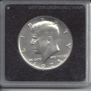 1975 Kennedy Bicentennial 50c 1976 Half Dollar,  Daniel Carr - 40 Silver photo