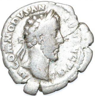 Authentic Commodus,  Ar Silver Denarius - Rev.  Roma - Roman Coin - C61 photo