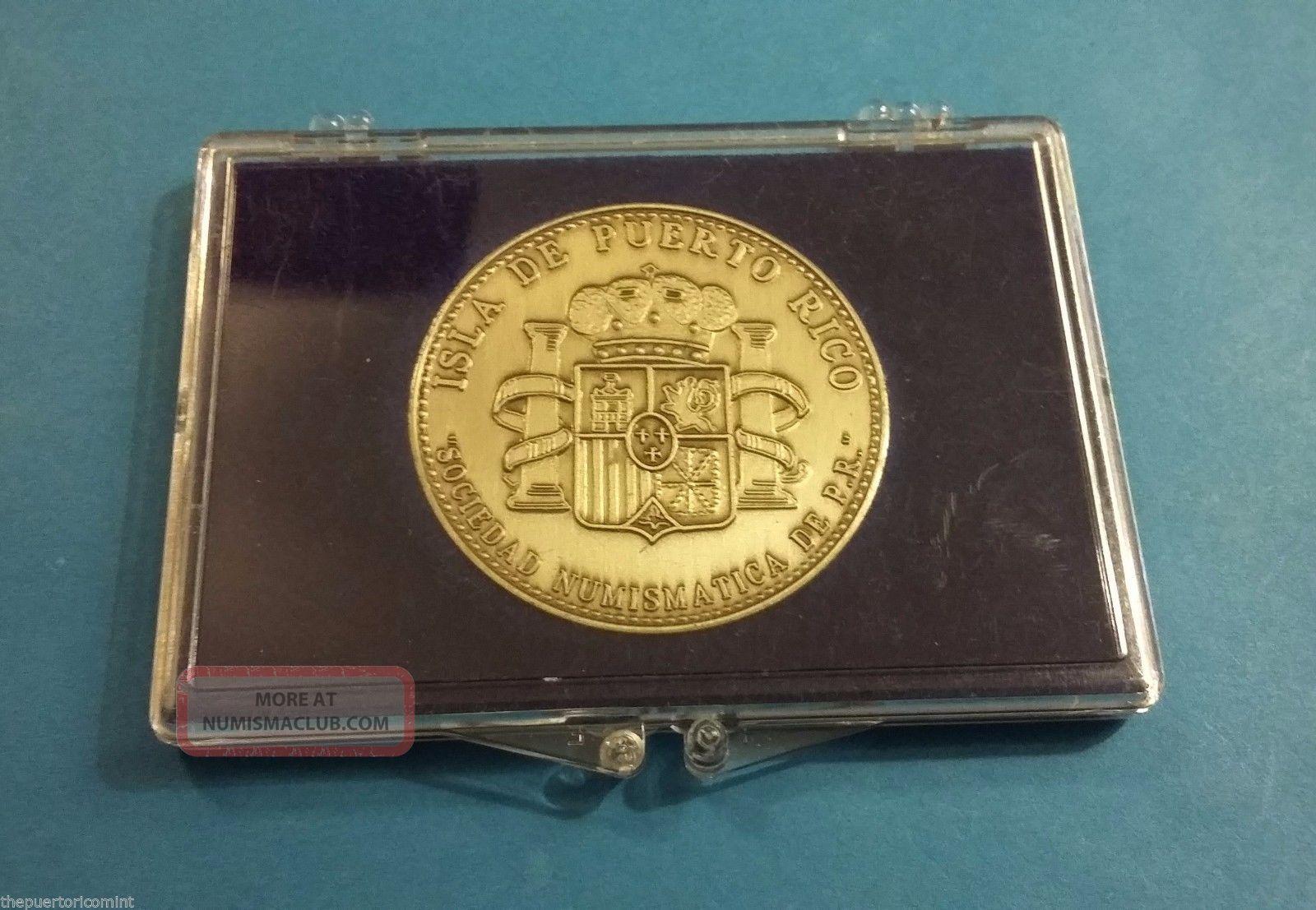 Medalla Niquel 45 Años Sociedad Numismatica Puerto Rico 1949 - 1994 Numismatic Exonumia photo