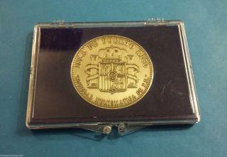 Medalla Niquel 45 Años Sociedad Numismatica Puerto Rico 1949 - 1994 Numismatic photo