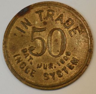 J A Ravell 50 Cent Ingle System Trade Token Pontiac Michigan Unlisted Denom photo