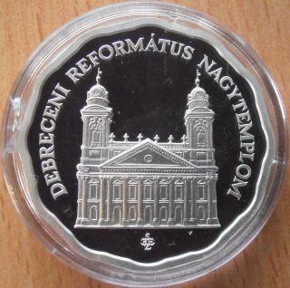 Hungary 5000 Forint 2007 Debrecen Church Silver Proof photo