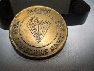 Advertising Token Jacobs Fine Jewelers Since 1890 39 Mm Bronze $25 photo