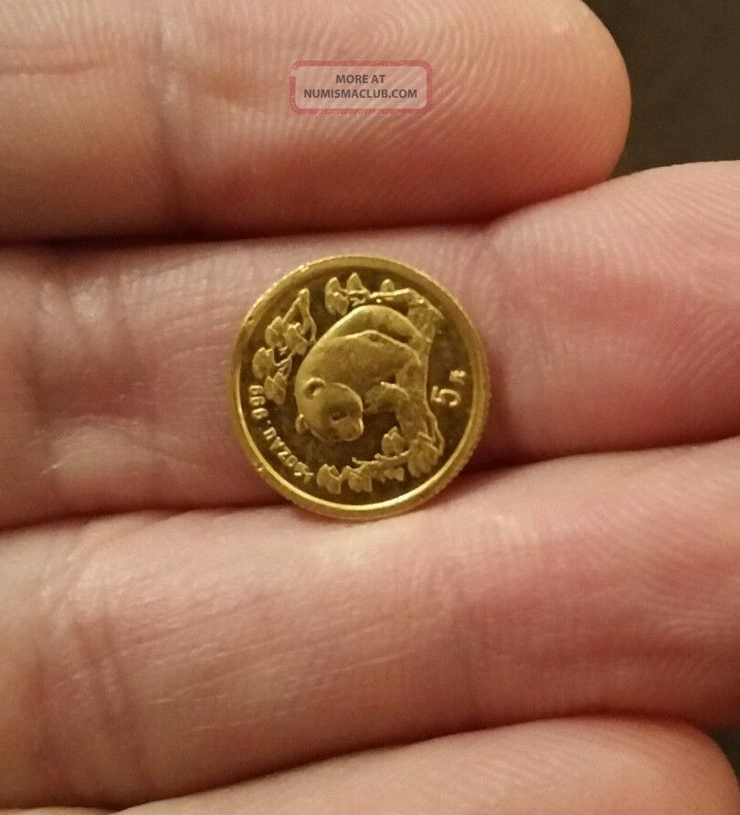 1997 1 20 Oz Gold Panda Coin Small Date
